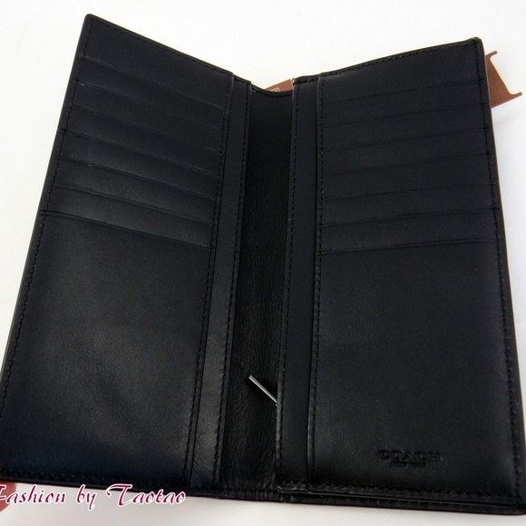 35bf0786 COACH MENS BREAST POCKET WALLET SIGNATURE Leather NWT